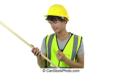 carpenter working with a piece of wood