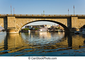 London Bridge in Lake Havasu - historic patrol station at...