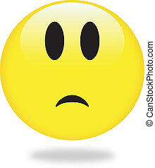 sad smiley - Vector smiley yellow emoticon. Perfect for...