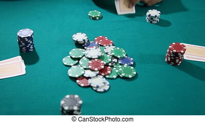 Poker 4 - Texas Holdem Poker Aces and Chips, shoot Canon 5D...