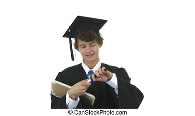 graduate with success sign