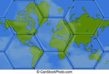 3D - Soccer texture - World