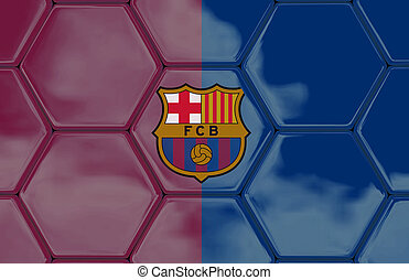 3D - Soccer texture - Barcelona - Soccer texture with a...