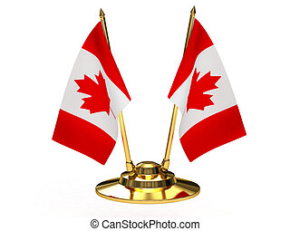 Flag of Canada on the flagpole