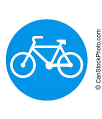 Traffic sign - cycling route
