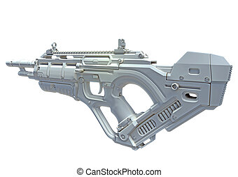 3D hightech weapon - 3D close future weapon, made in 3D,...