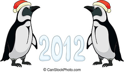Emperor penguins with 2012