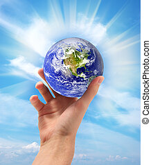 Earth in hand - Planet Earth in hand Conceptual design