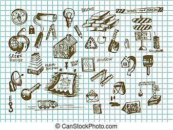 hand drawn construct icons