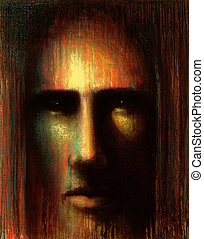 mystic face - picture painted by me called in mind VI, it...