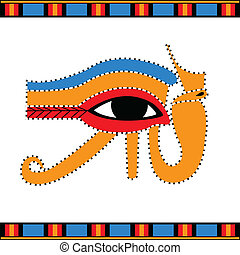 Eye Horus - Vector illustration of the ancient Egyptian Eye...