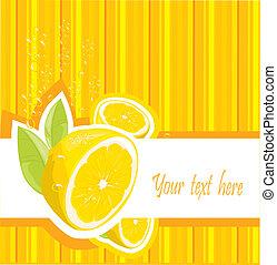 Fresh lemon menu