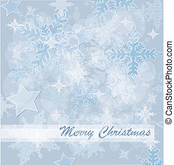 Abstract Christmas card with white snowflakes