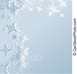 blue winter background and snowflakes - blue winter...