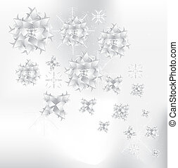 Origami snowflakes background