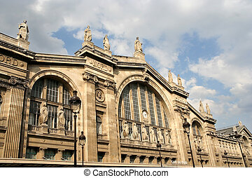 Gare du Nord, Paris - Gare du Nord railway station in Paris
