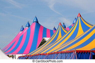 Circus Tents - Tops of two circus tents