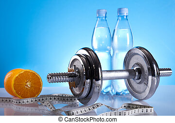 Dumbbell and bottle water - Dumbbell and bottle water