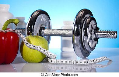 peso, pérdida, condición física