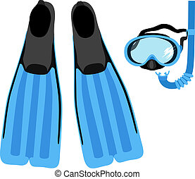 Snorkeling Set - Snorkeling set, vector eps8 illustration