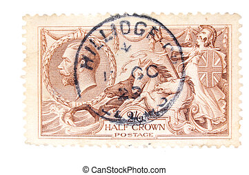 vintage English  postage stamp