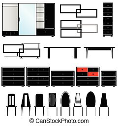 furniture for the house illustration