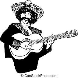 sketch Mexican men singing and pla - sketch Mexican men...