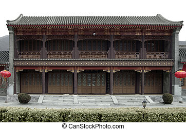 building near Badaling - traditional building near Badaling,...
