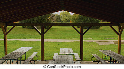 Picnic Shelter - Looking out of a picnic shelter