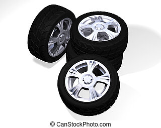 four big rims with big tyres