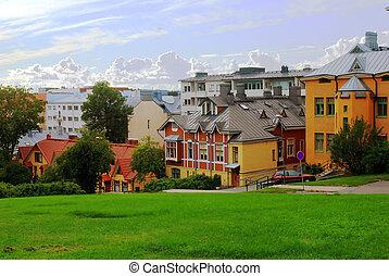 Turku Finland city in summer, north Europe