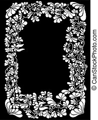 Floral frame with
