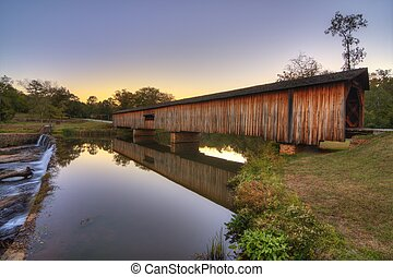 Watson Mill Bridge Est 1885 at Watson Mill State Park in...