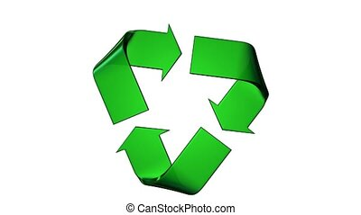 Recycle green logo which turning