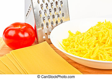 grated cheese and grater