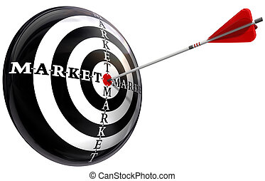 targeted marketing conceptual image isolated on white...