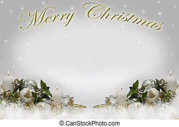 Christmas card - Christmas card with a copy space to writte...