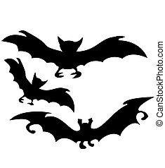 bat silhouette for Halloween