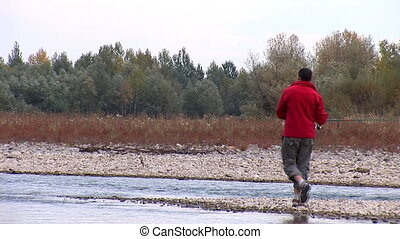 fisher 18 - Morning fishing on the river river Prut, Ukraine...