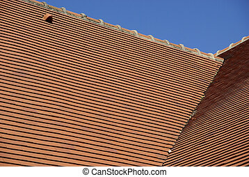 Detail of a tiled roof