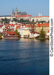 Prague Castle and Vltava River, Czech Republic