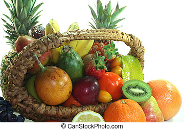 Fruit basket with various fruits - Fruit basket with various...
