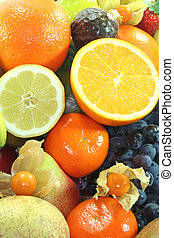 Fruit Mix - Mix of native and exotic fruits as a background