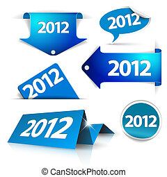 Vector 2012 Labels, stickers, pointers, tags