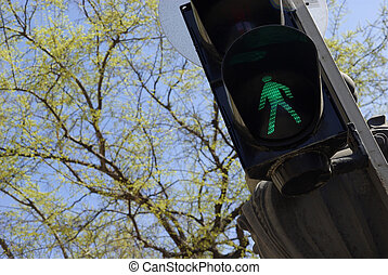 City pedestrian signal - Image of a typical city pedestrian...