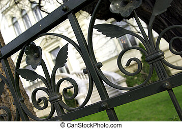 Detail of the gate of a luxury house