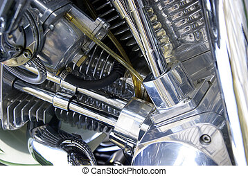 Detail of a motorbike engine