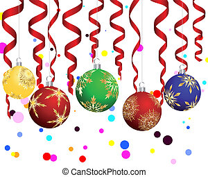 Christmas New Year card for design use Vector illustration...