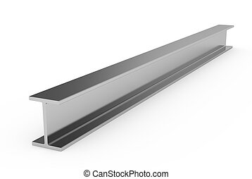 Steel girder - 3d illustration of steel girder isolated on...