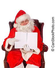 Humorus, Primer plano, santa, Claus, (that, alegre, viejo,...
